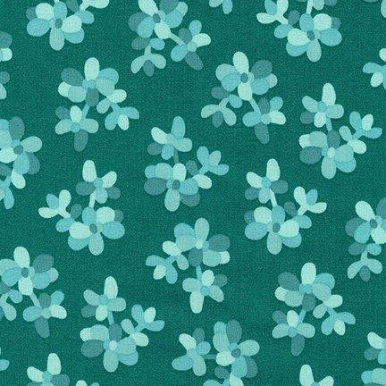 Large Floral in Glacier - Terrarium Collection by Elizabeth Hartman