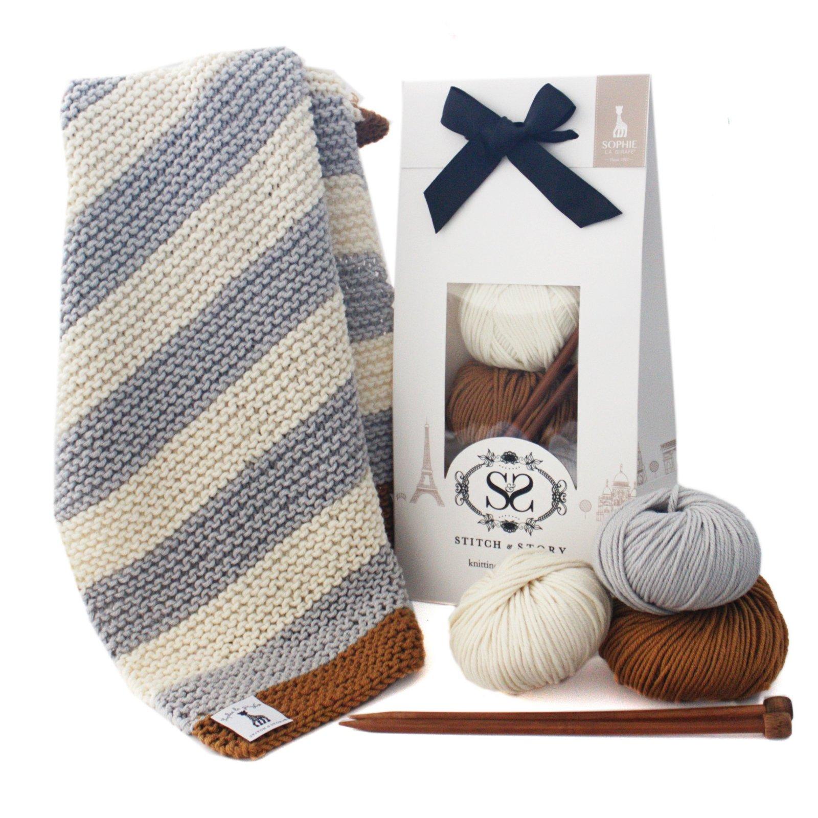 Knitting Kit - Sophie La Girafe Baby Blanket
