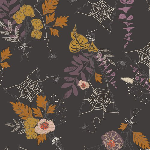 Remnant - 5/8 yd - Spooky n Sweet - Cast a Spell