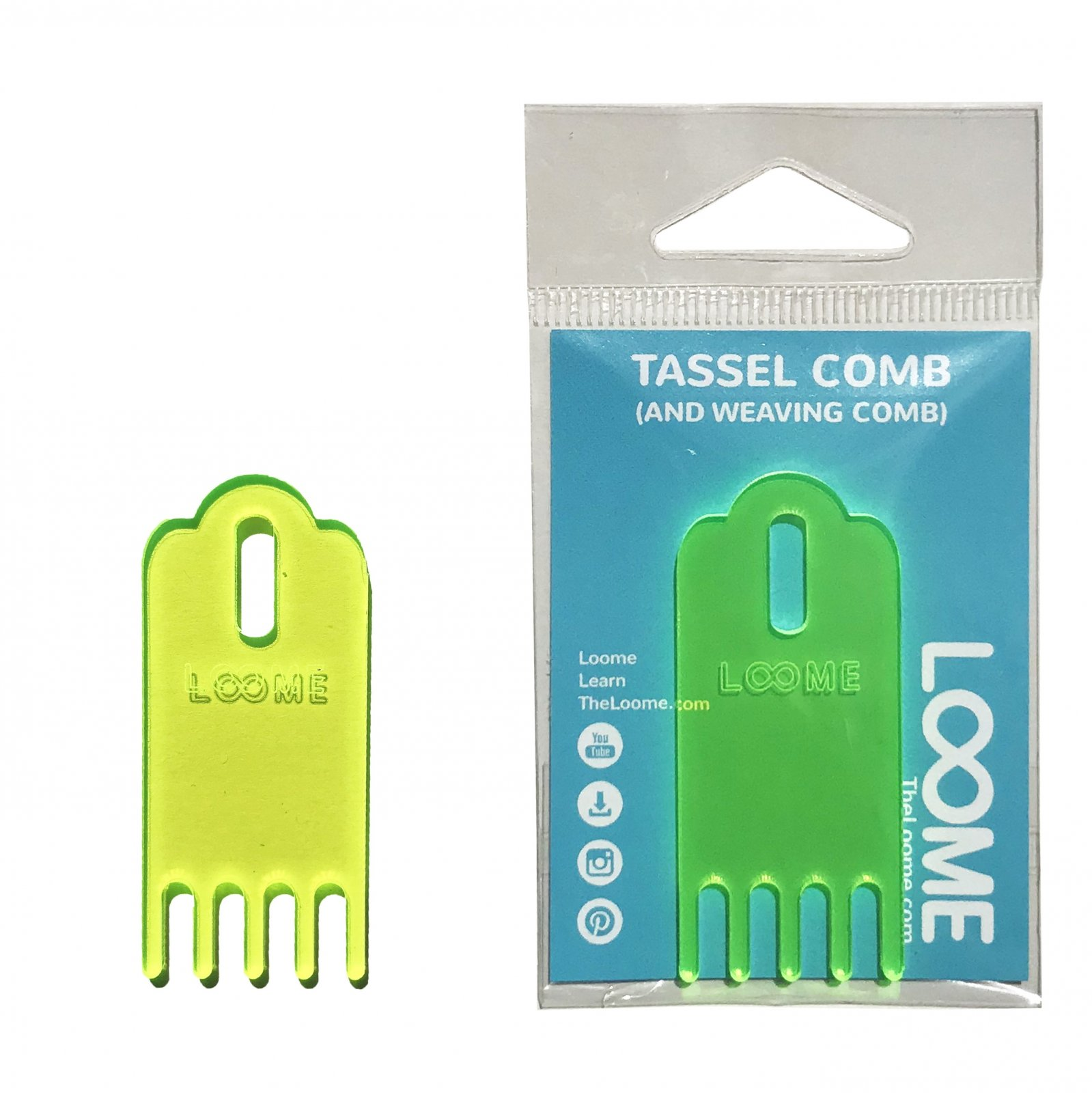 Loome Tassel + Weaving Comb