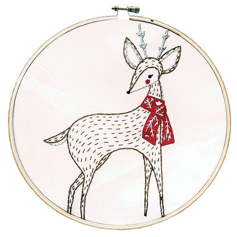 Holiday Embroidery Sampler - Deer
