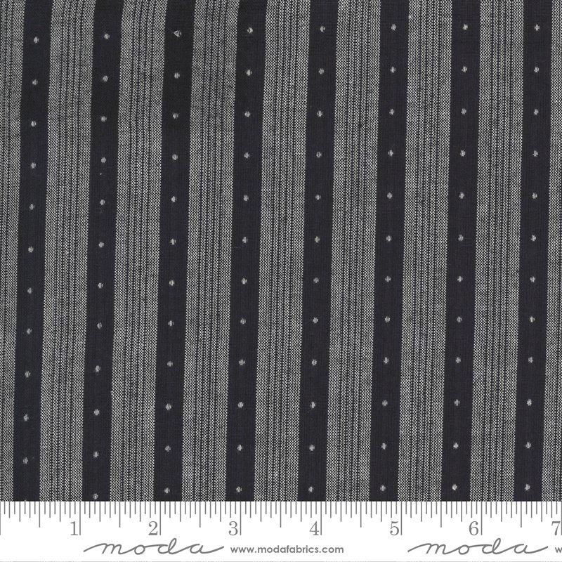 Low Volume Wovens - Dot Stripe Charcoal