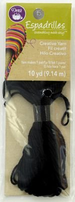 Espadrille Yarn - 10 yards - Black