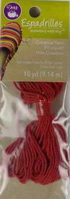 Espadrille Yarn - 10 yards - Red