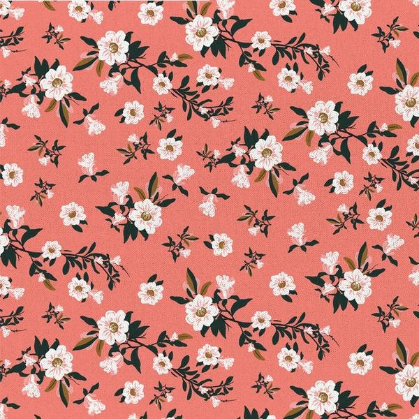 Remnant - 2/3 yd - Imperial Garden - Flowers in Pink