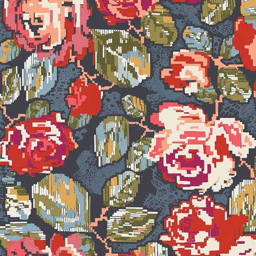 Fusion Trinkets - Flowered Engrams - Art Gallery Fabrics