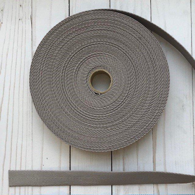 Cotton Webbing - 1 wide - Gray