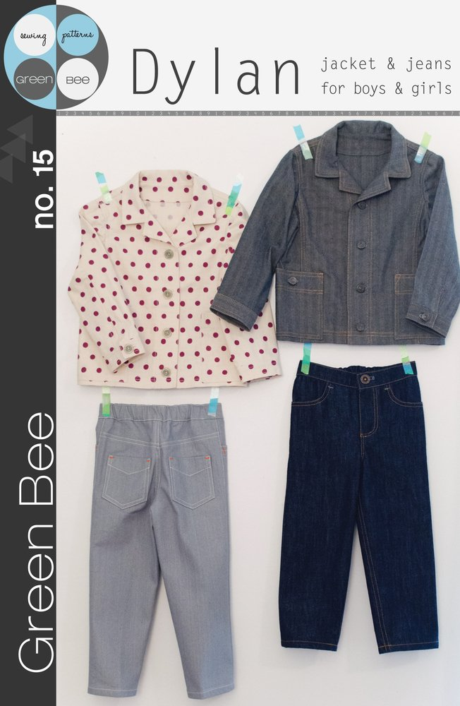 Dylan Jacket & Jeans - Green Bee Patterns