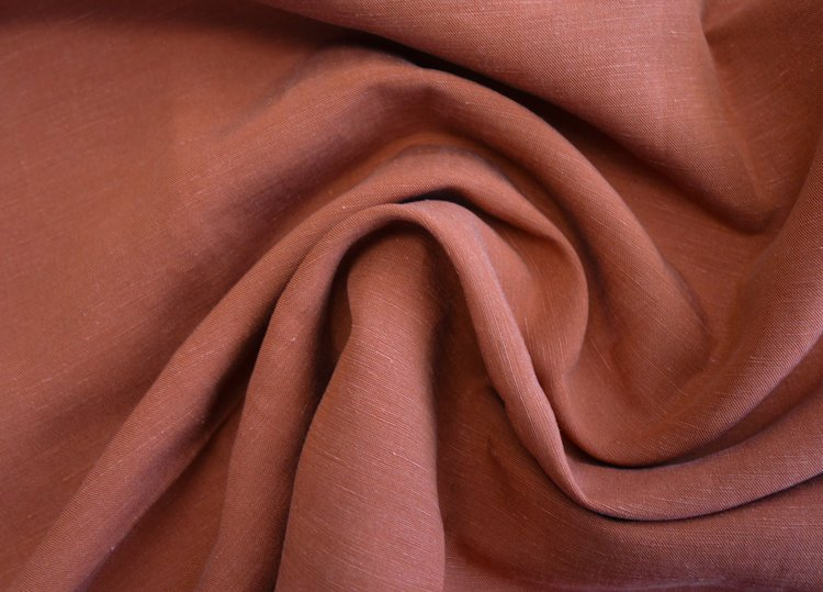 Halo Lyocell + Linen Slub Woven - Rust