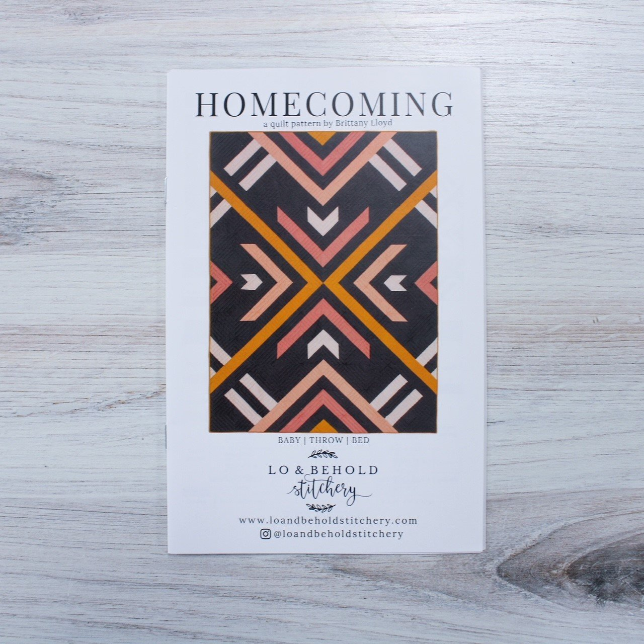 Homecoming Quilt Pattern