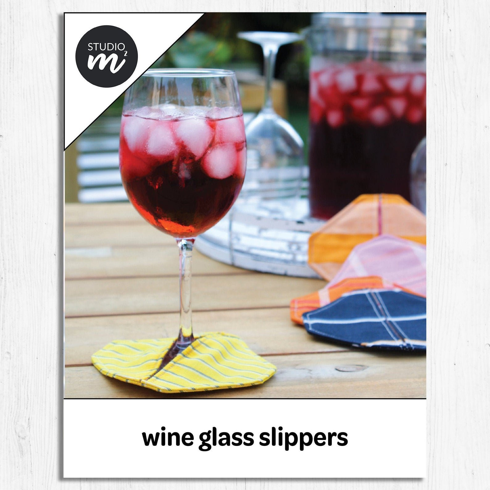 Studio M Squared - Wine Glass Slippers