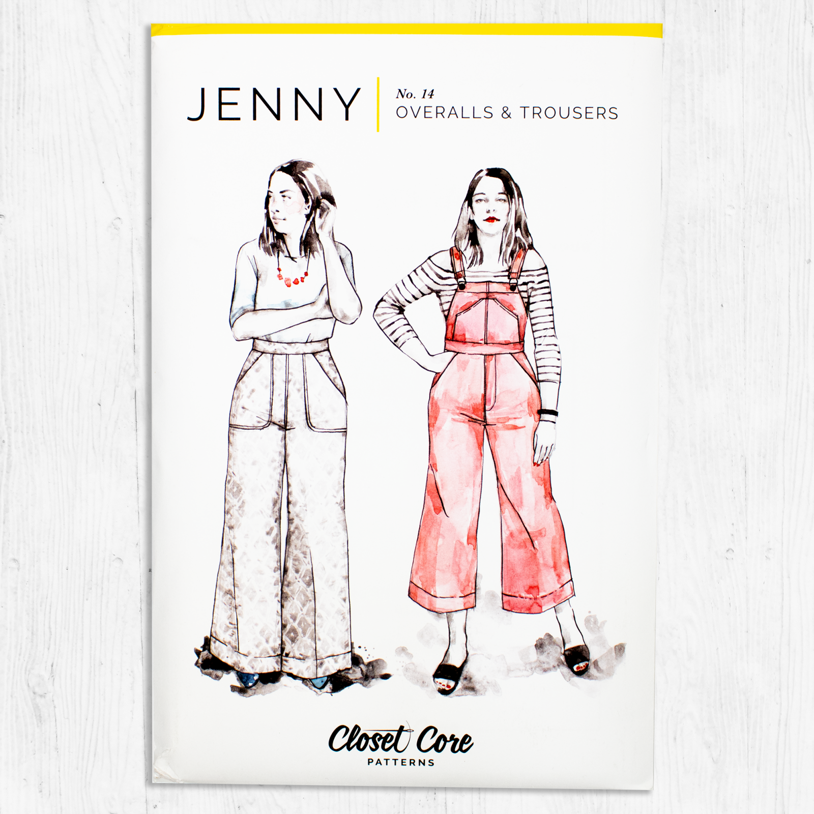 Closet Core Patterns - Jenny Overalls and Trousers