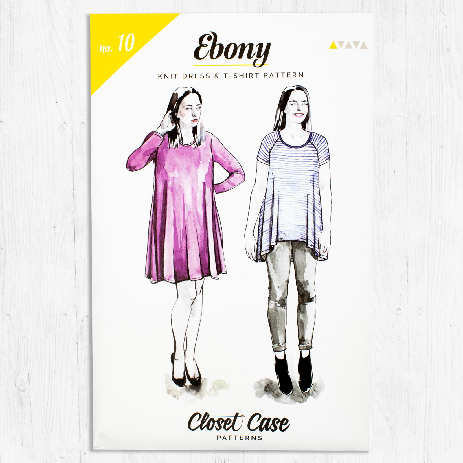 Closet Core Patterns - Ebony Knit Dress & Tee