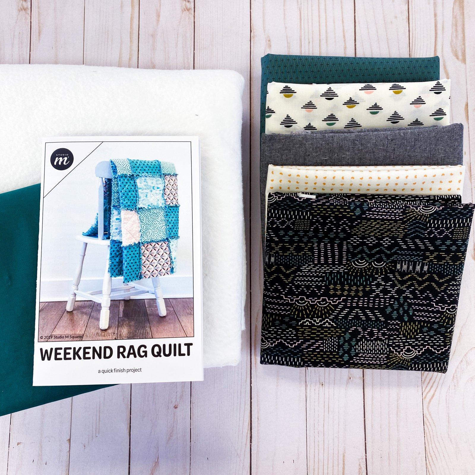 Weekend Rag Quilt - Throw Size - Modern Vibes