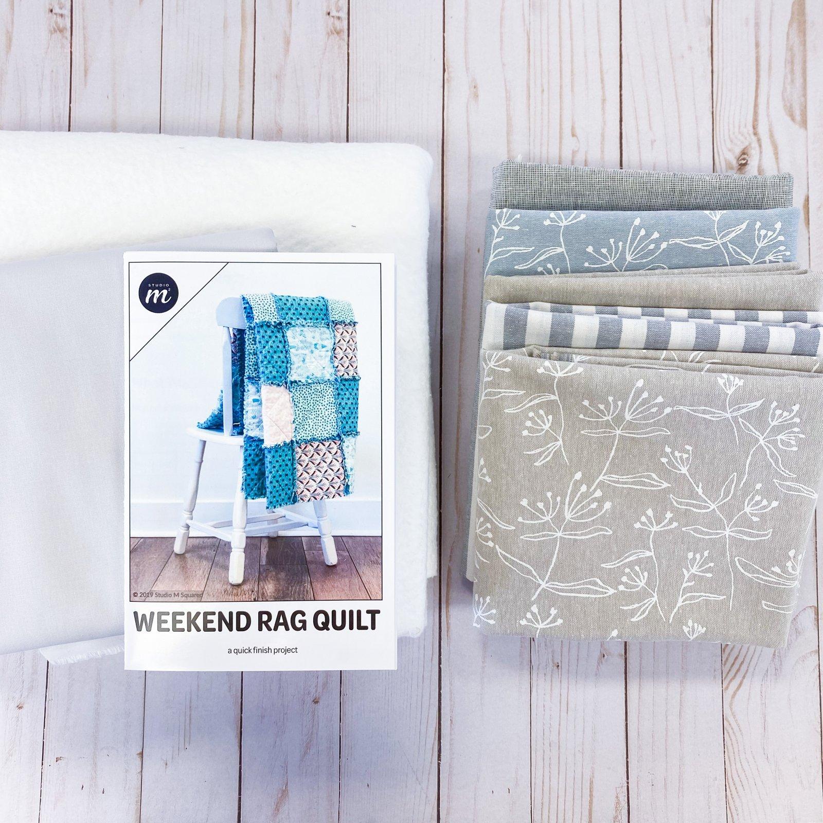 Weekend Rag Quilt - Throw Size - Coastal Breeze