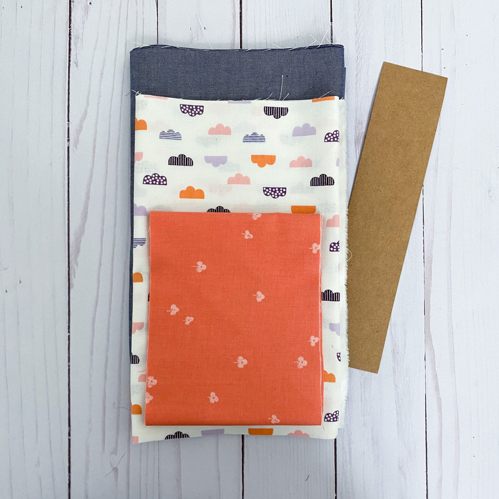 Love Burst - Paperpiecing Kit - Dotty Clouds