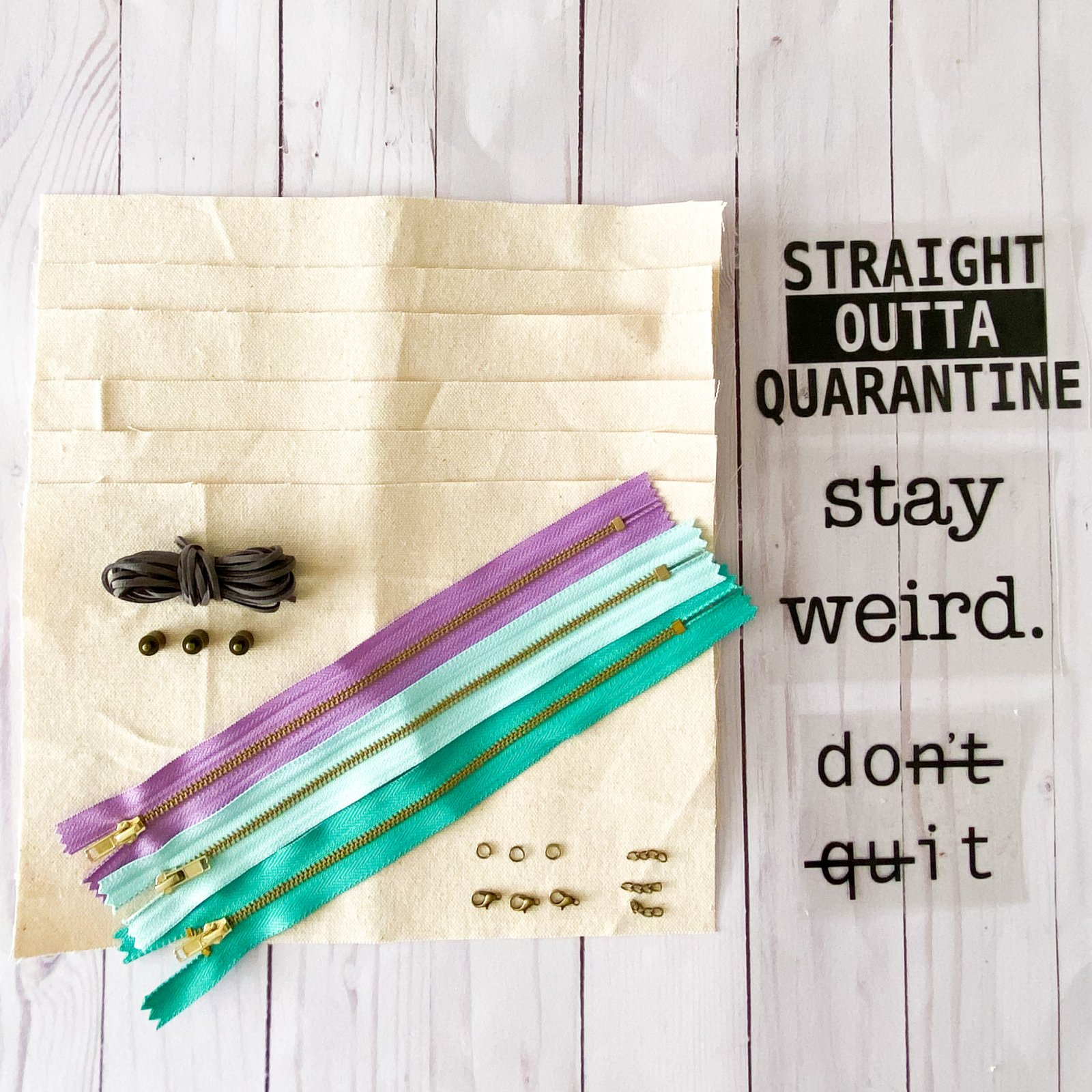 Easy Personalized Pouch Kit - Lavender, Light Blue + Teal