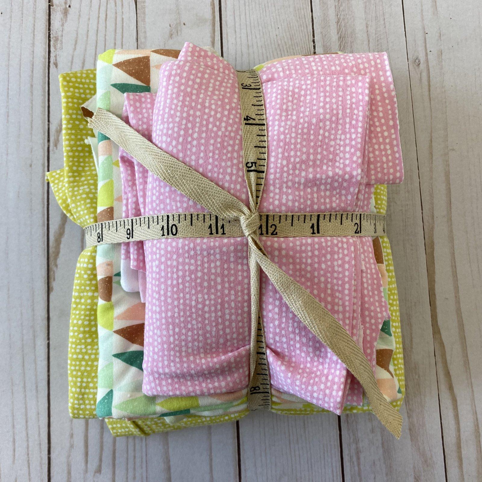 Knit Remnant Bundle - Pink + Lime Green