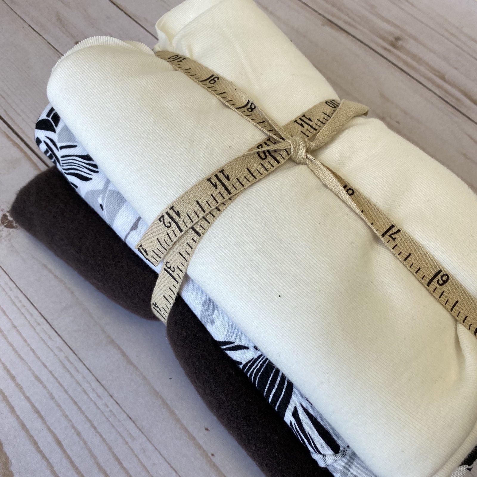 Knit Remnant Bundle - Black + White + Brown