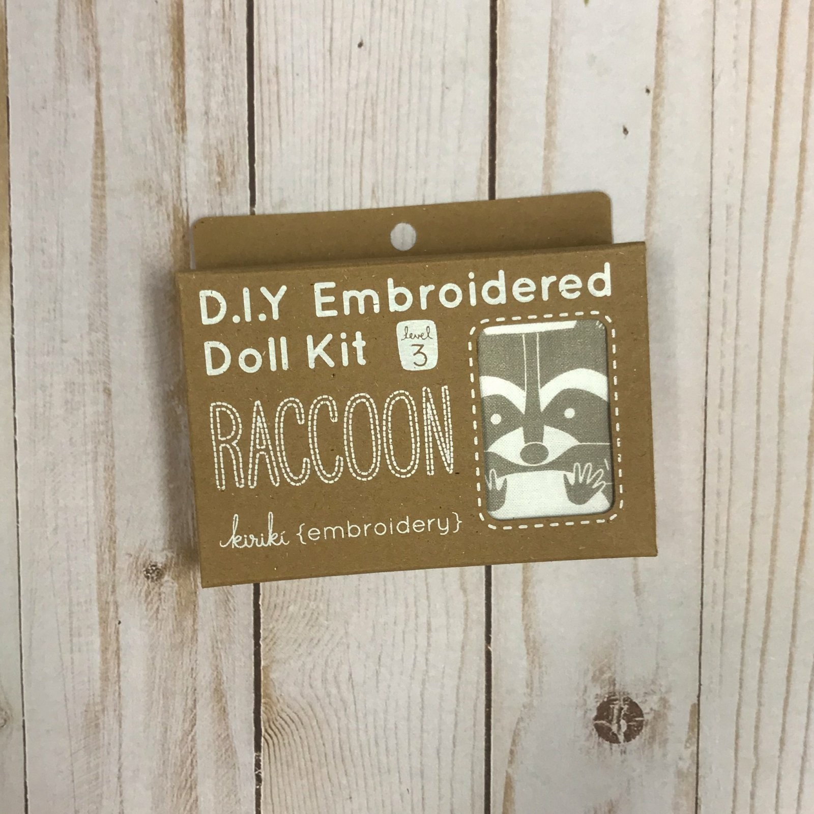 Embroidered Doll Kit - Level 3 - Raccoon
