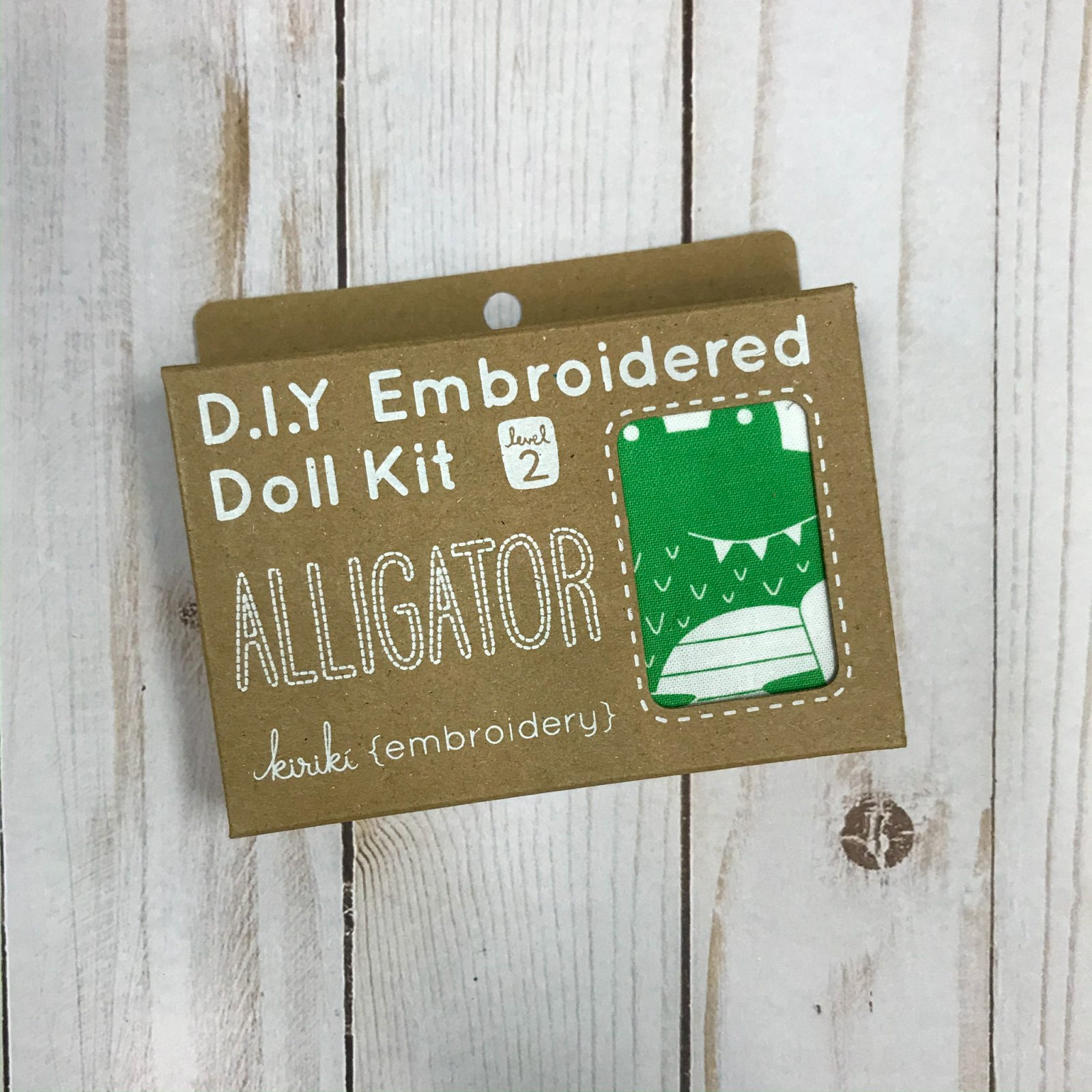 Embroidered Doll Kit - Level 2 - Alligator