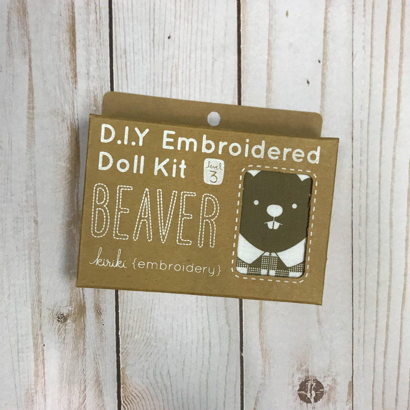 Embroidered Doll Kit - Level 3 - Beaver
