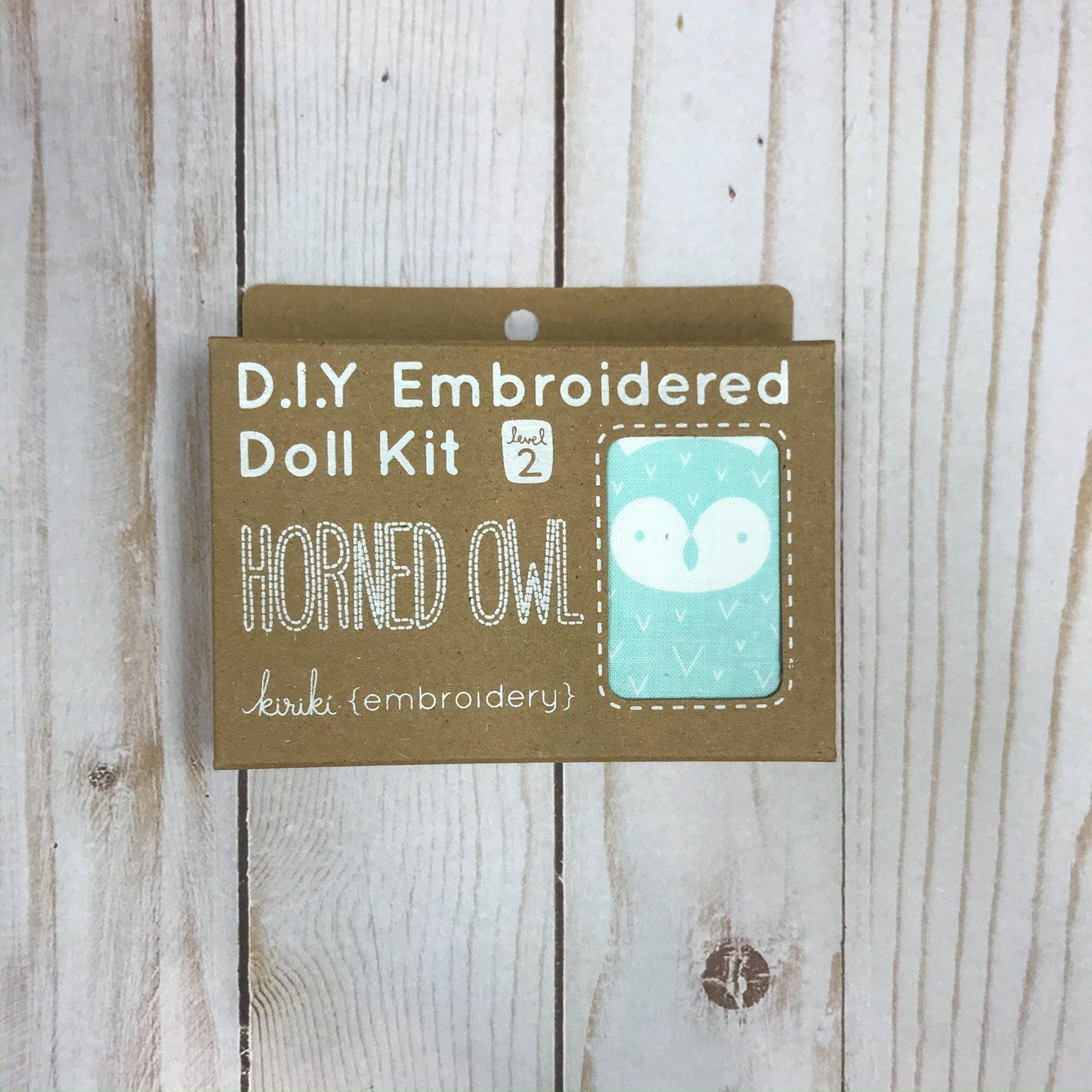 Embroidered Doll Kit - Level 2 - Horned Owl
