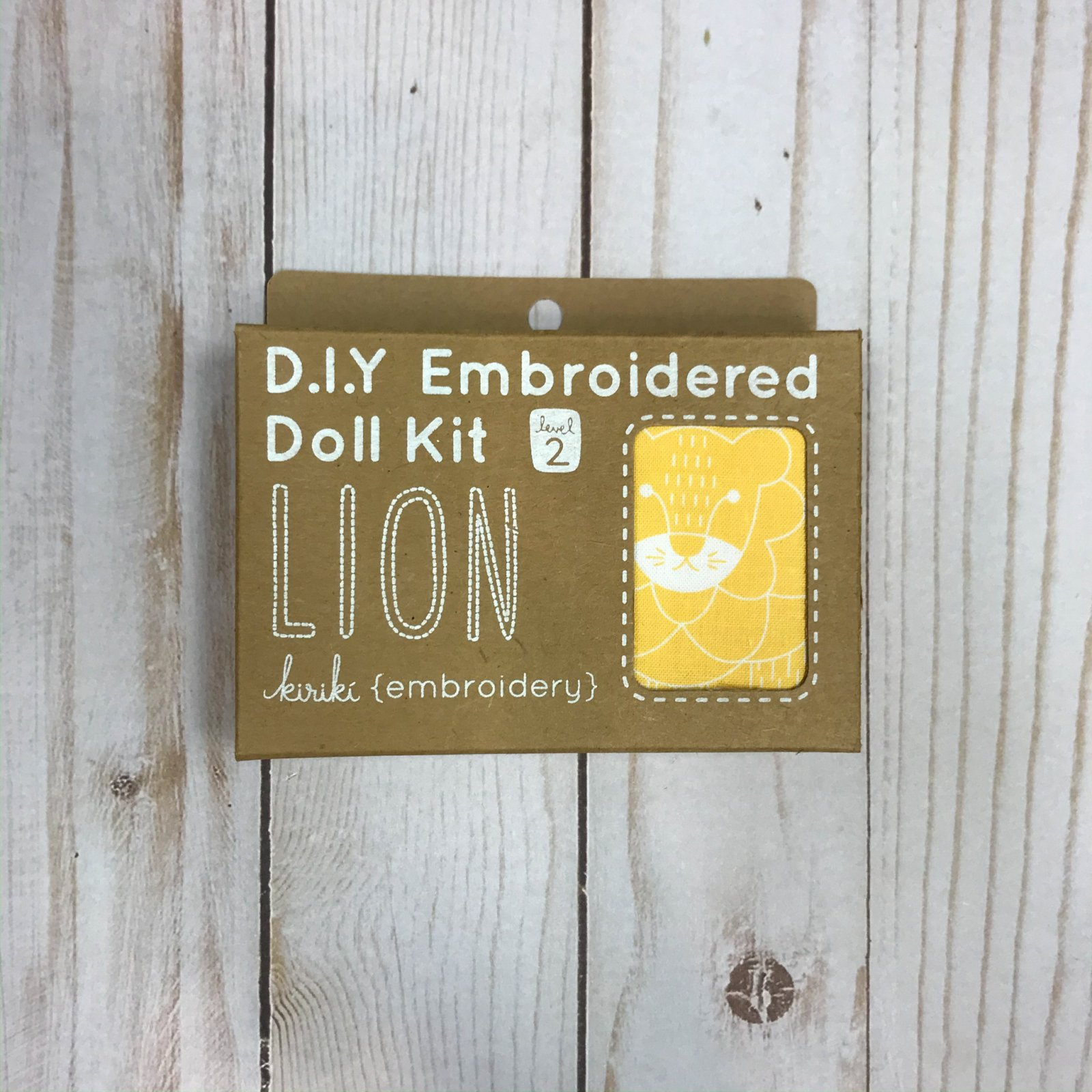 Embroidered Doll Kit - Level 2 - Lion