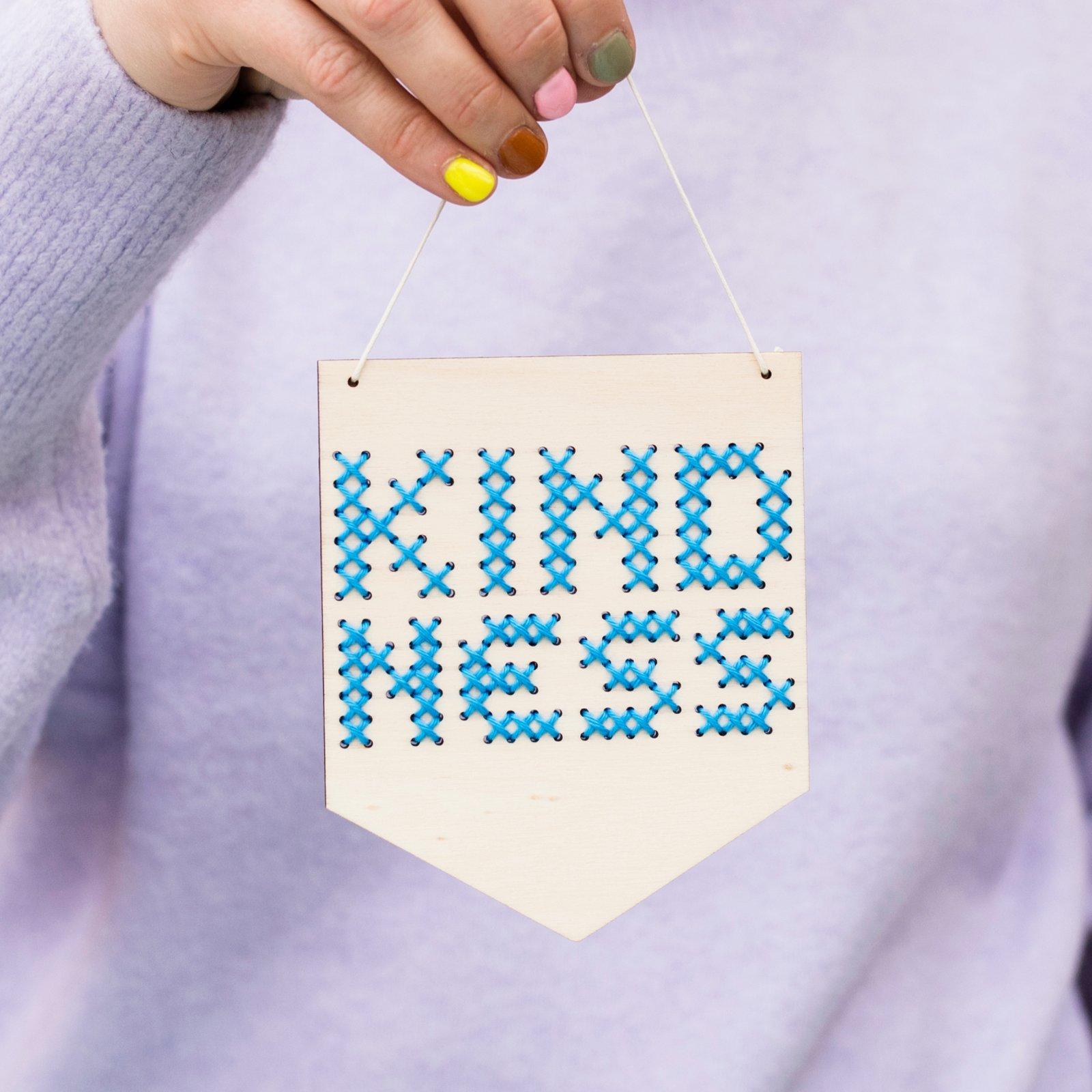 Kindness Cross Stitch Banner Kit