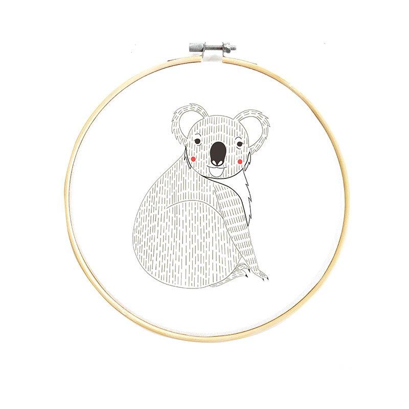 Animal Embroidery Sampler - Koala