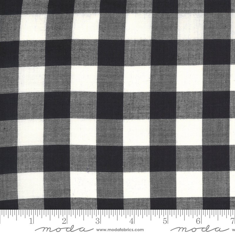 Low Volume Wovens - Large Check Charcoal