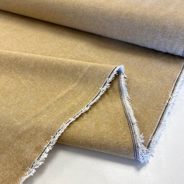 Essex Yarn Dyed Linen / Cotton Blend - Leather
