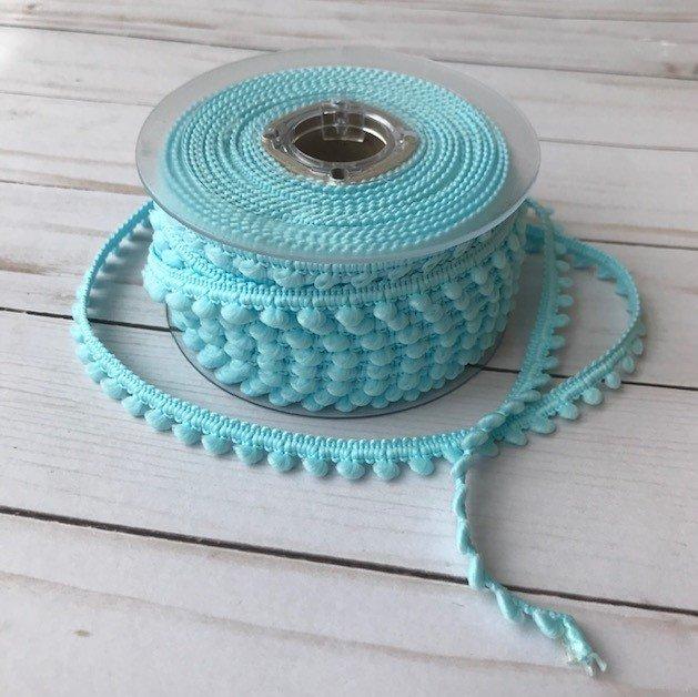 1/2 Mini Pom Pom Trim - Baby Blue