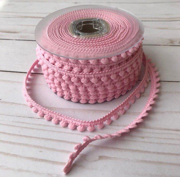 1/2 Mini Pom Pom Trim - Baby Pink