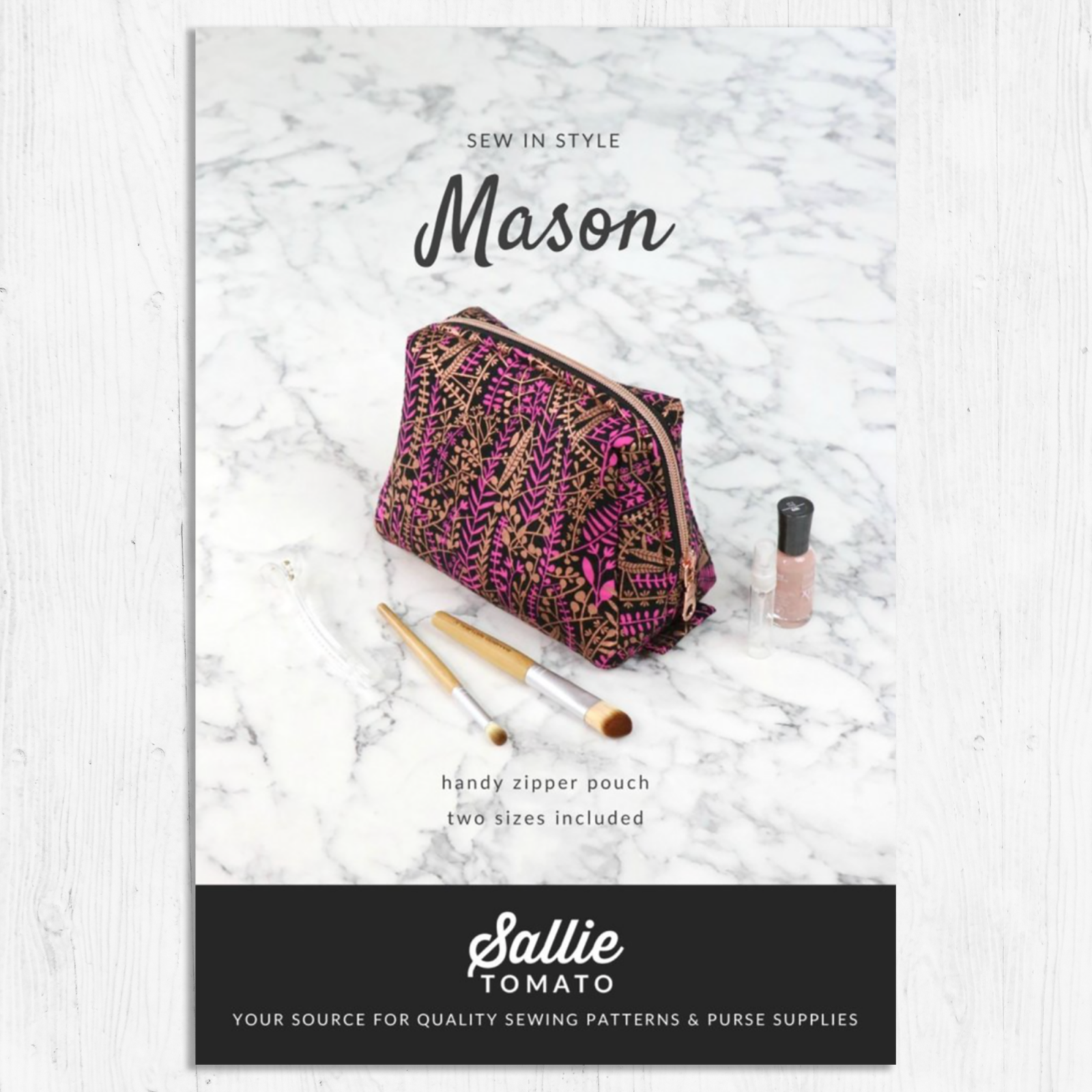 Sallie Tomato- Mason Bag Pattern