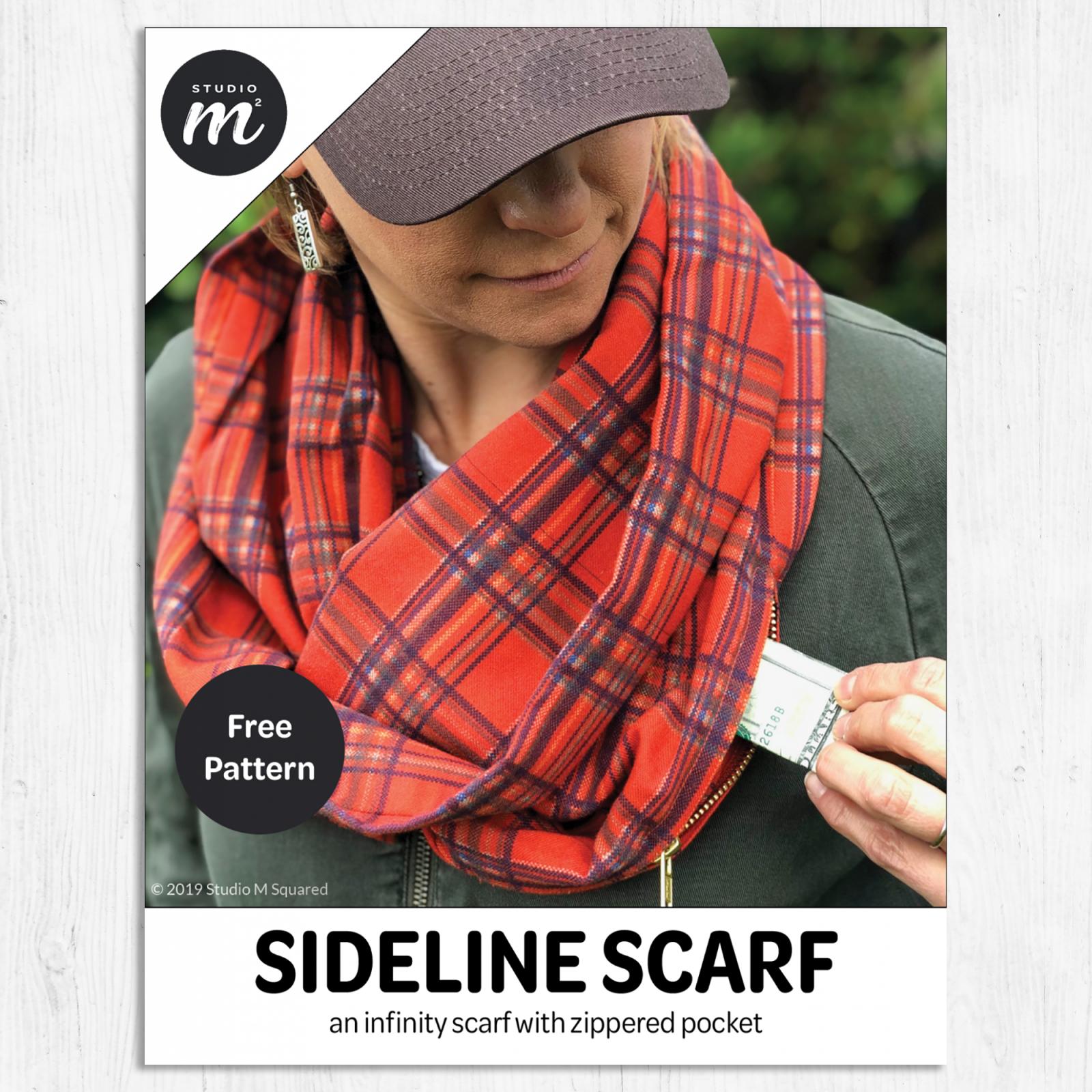 Studio M Squared - Sideline Scarf - FREE pattern