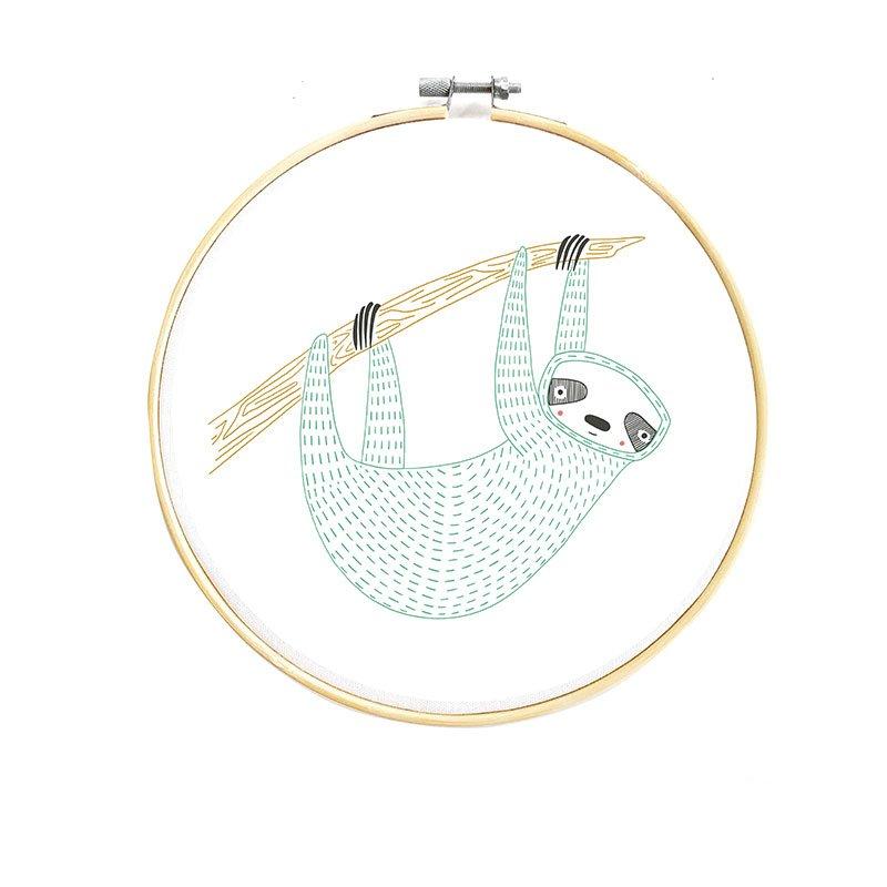 Animal Embroidery Sampler - Sloth