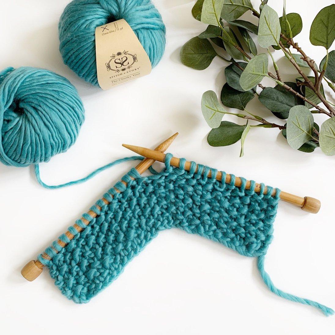 Knitting Kit - Teal Cowl