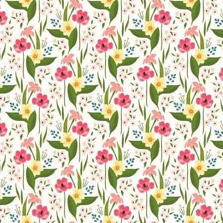 Cora - White Happy Floral