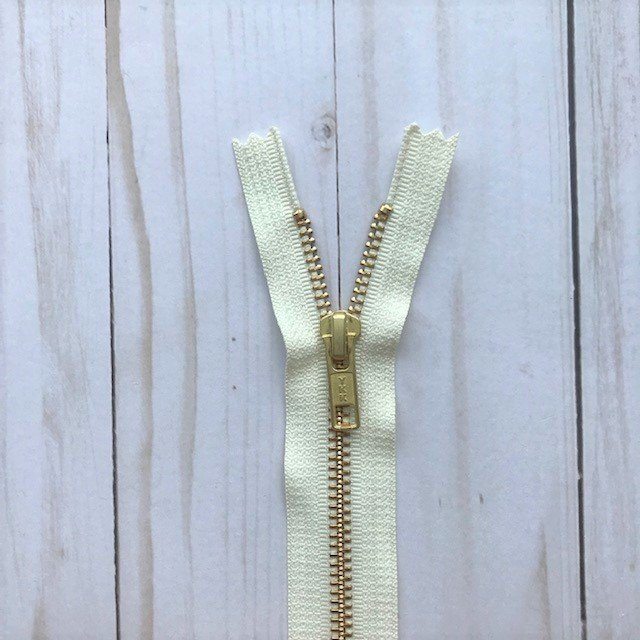 YKK Metal Zipper - Vanilla