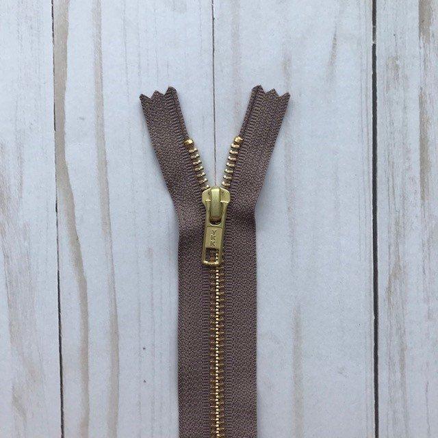 YKK Metal Zipper - Dark Brown