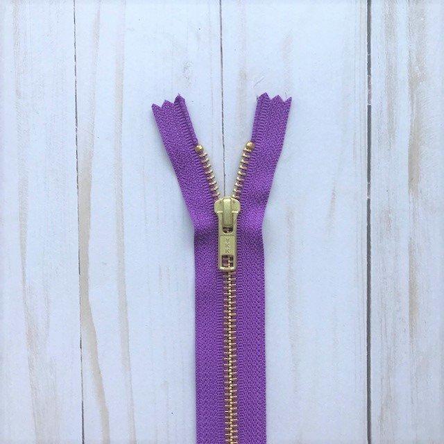YKK Metal Zipper - Purple