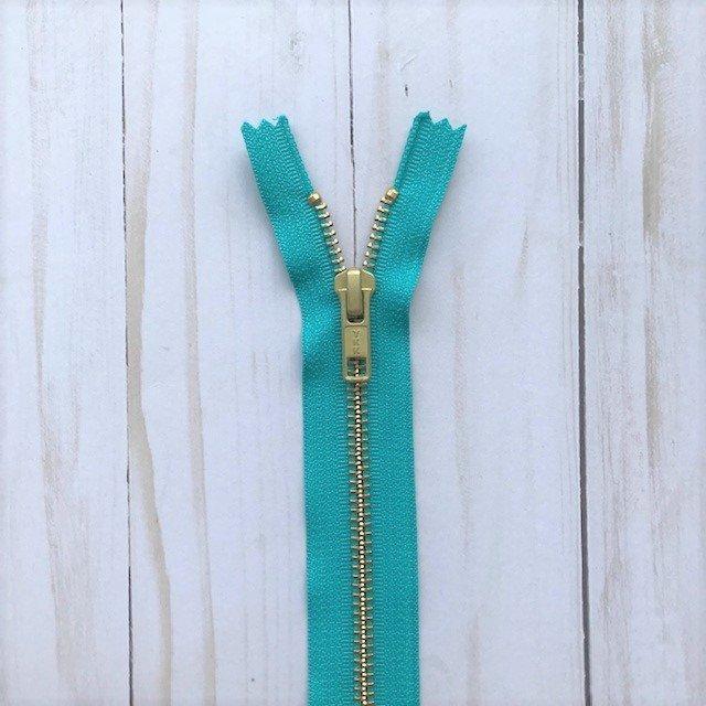 YKK Metal Zipper - Turquoise