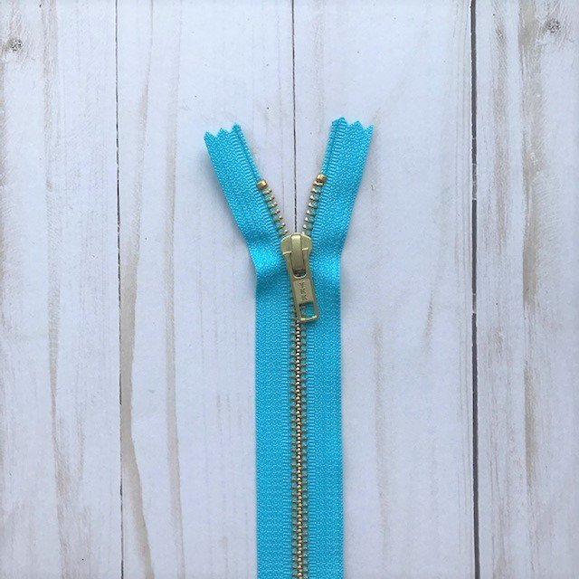 YKK Metal Zipper - Bright Aqua