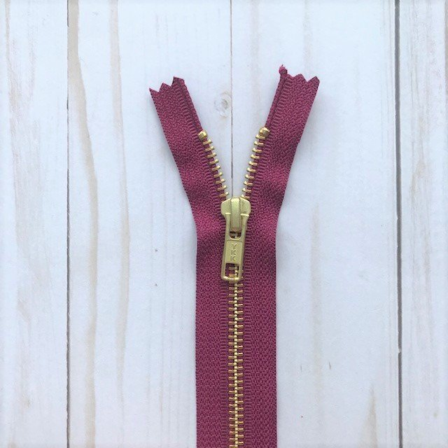YKK Metal Zipper - Wine