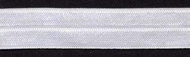 5/8 inch fold over elastic WHITE