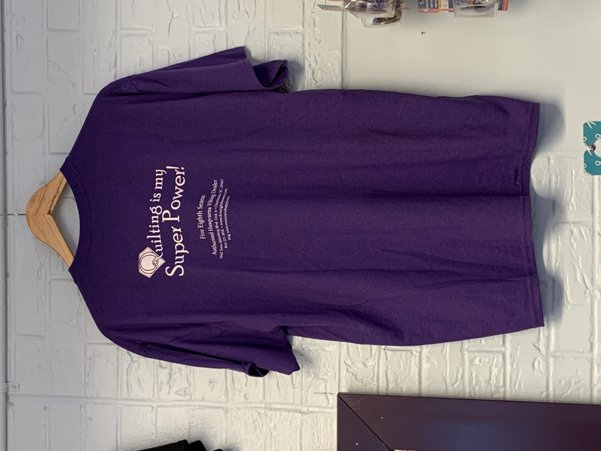 Fashion Tshirt Quilting is my Super Power Purple