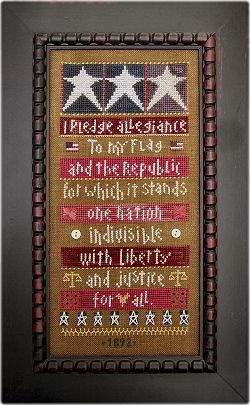 Sadie Stuart 1892 I Pledge Allegiance Sampler