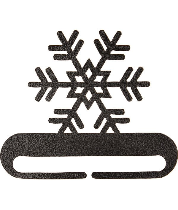 8 Snowflake Charcoal Bell Pull