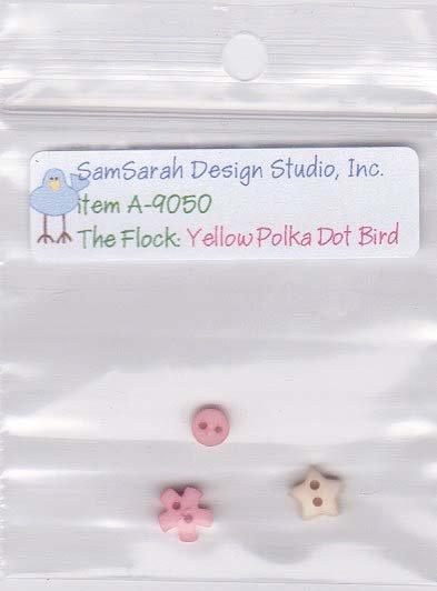 Packet: The Flock Yellow Polka Dot Bird
